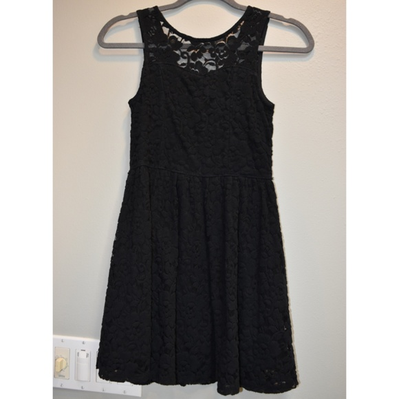 1ddaeaea4ff3 abercrombie kids Other - Abercrombie Black Lace Skater Dress Size 11 12